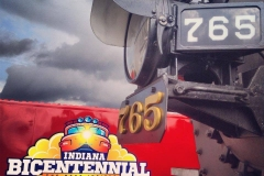 765 and the Indiana Bicentennial Train