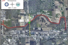 Map of Rivergreenway closure