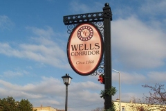 Wells Street Corridor entrance sign