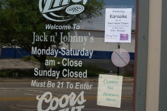Jack & Johnny's closed sign