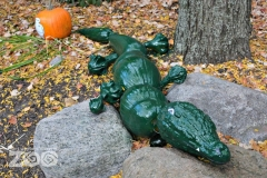 Alligator animal sculpture