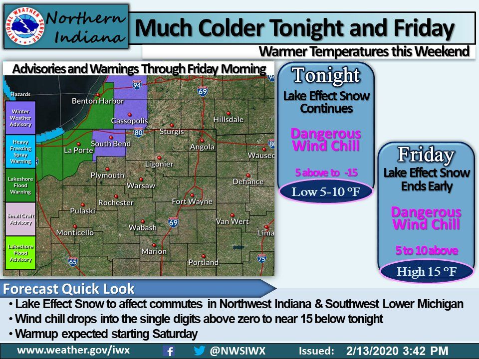 Much colder tonight and Friday
