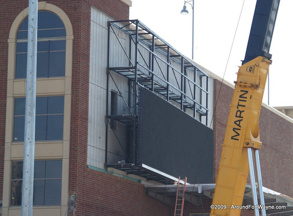 2009 Parkview Field Video board installation