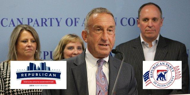 Announce of details about the upcoming Republican Indiana State Convention.