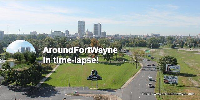 Foggy morning in downtown Fort Wayne time-lapse