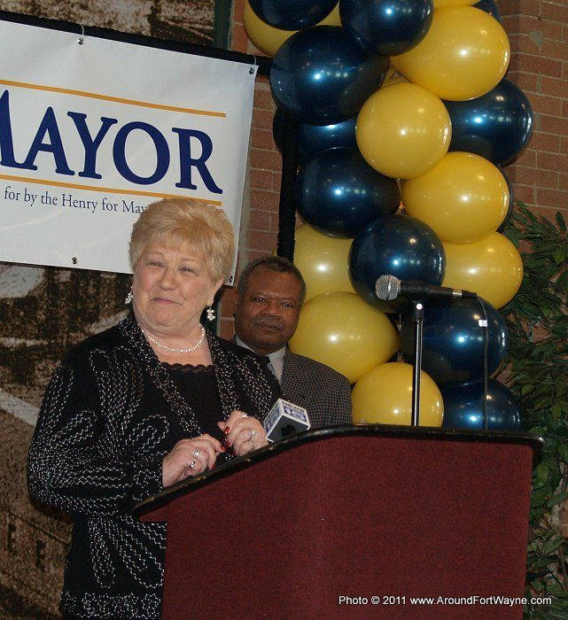 City Clerk Sandy Kennedy announces her re-election campaign on January 31, 2011.