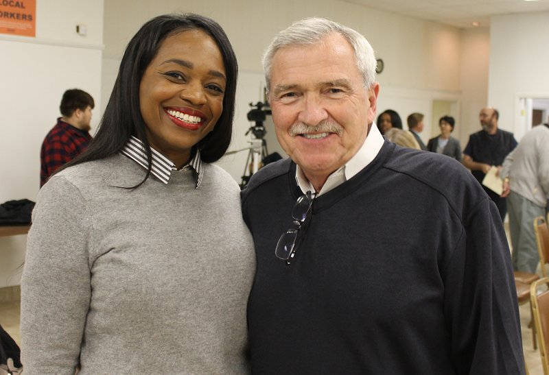 Michelle Chambers and Mayor Tom Henry