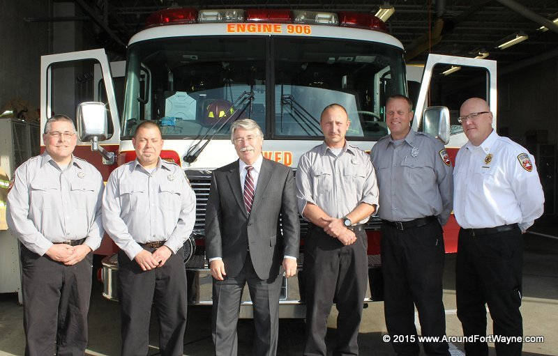 Indiana Attorney General Greg Zoeller with FWFD Station 7 Fire Fighters