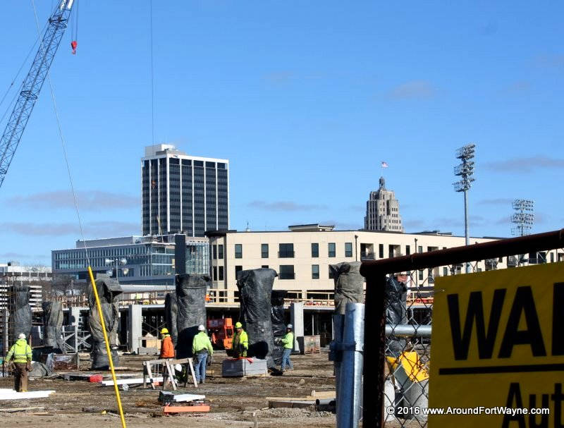 Cityscape Flats, one of the current under construction projects in downtown Fort Wayne.
