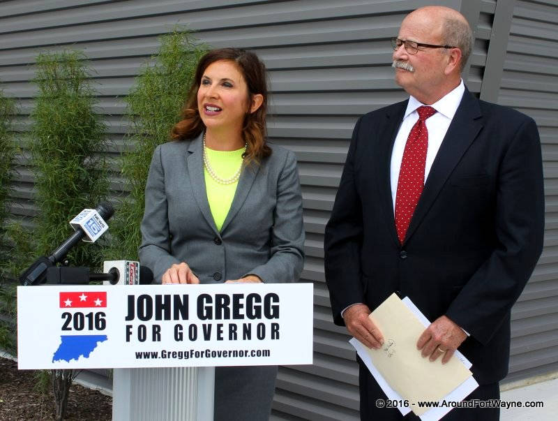 Christina Hale and John Gregg