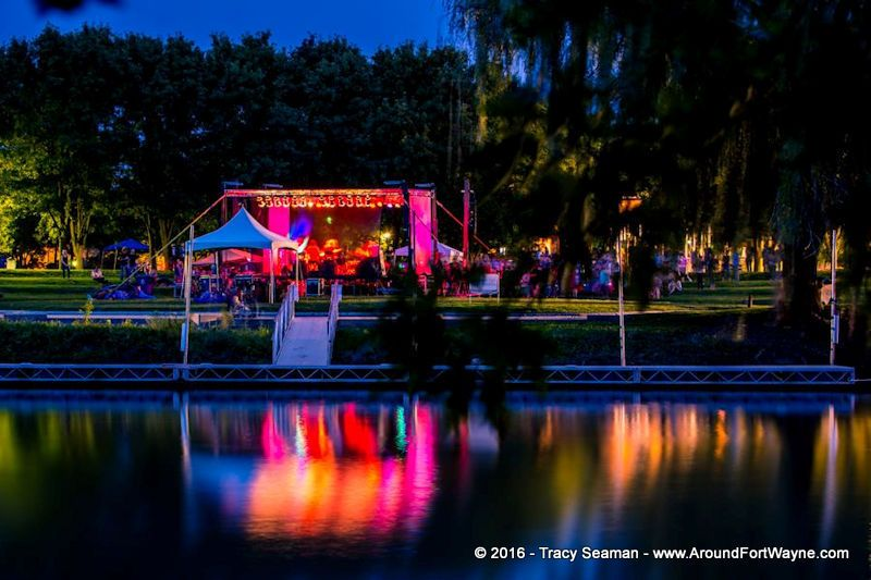The Maumee Stage at the Middle Waves Music Festival, as shot from across the St. Marys River.
