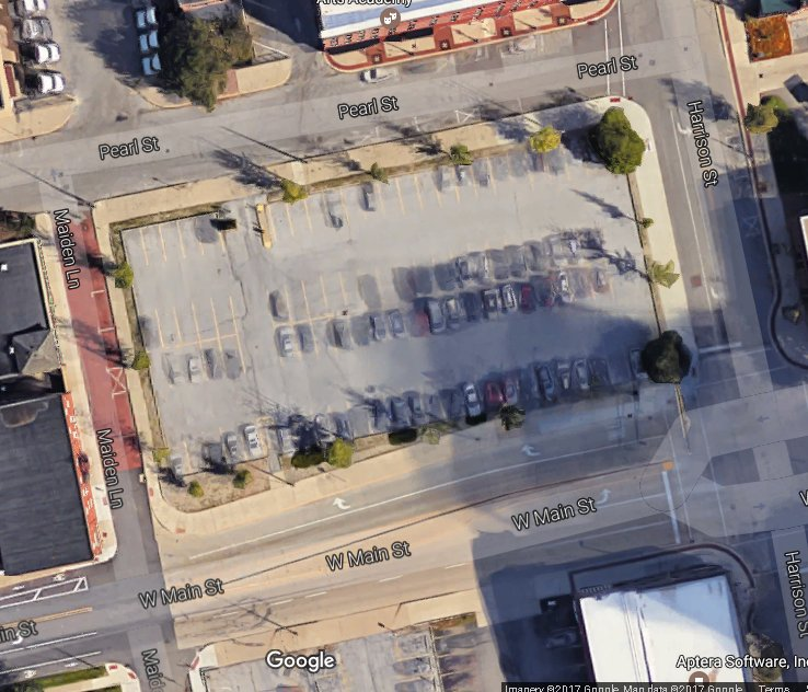 Downtown property redevelopment map