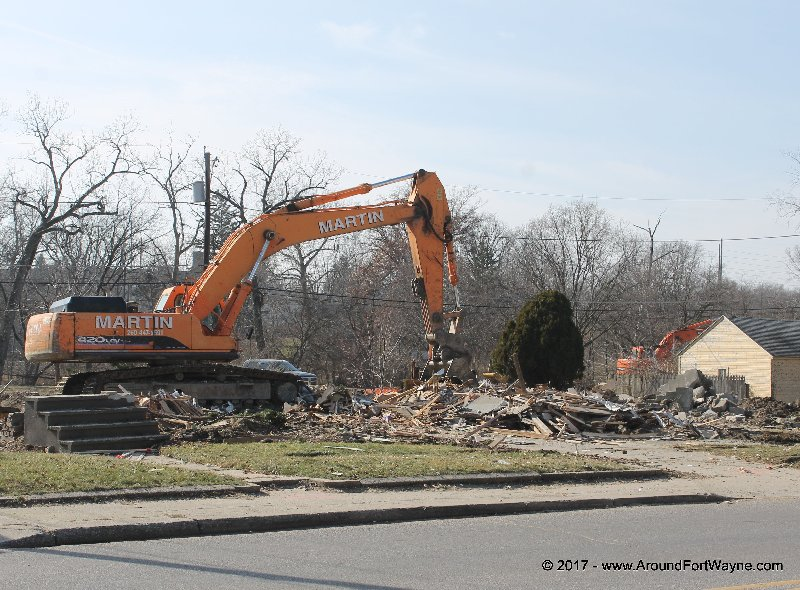 State Boulevard demolitions, February 6, 2017