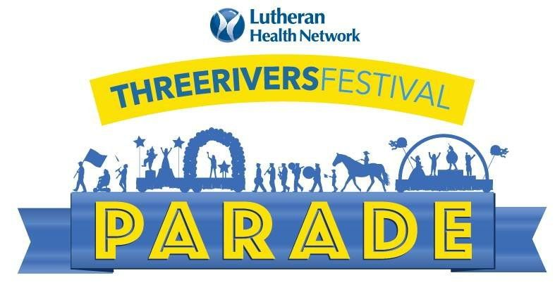 TRF Three Rivers Festival Parade logo