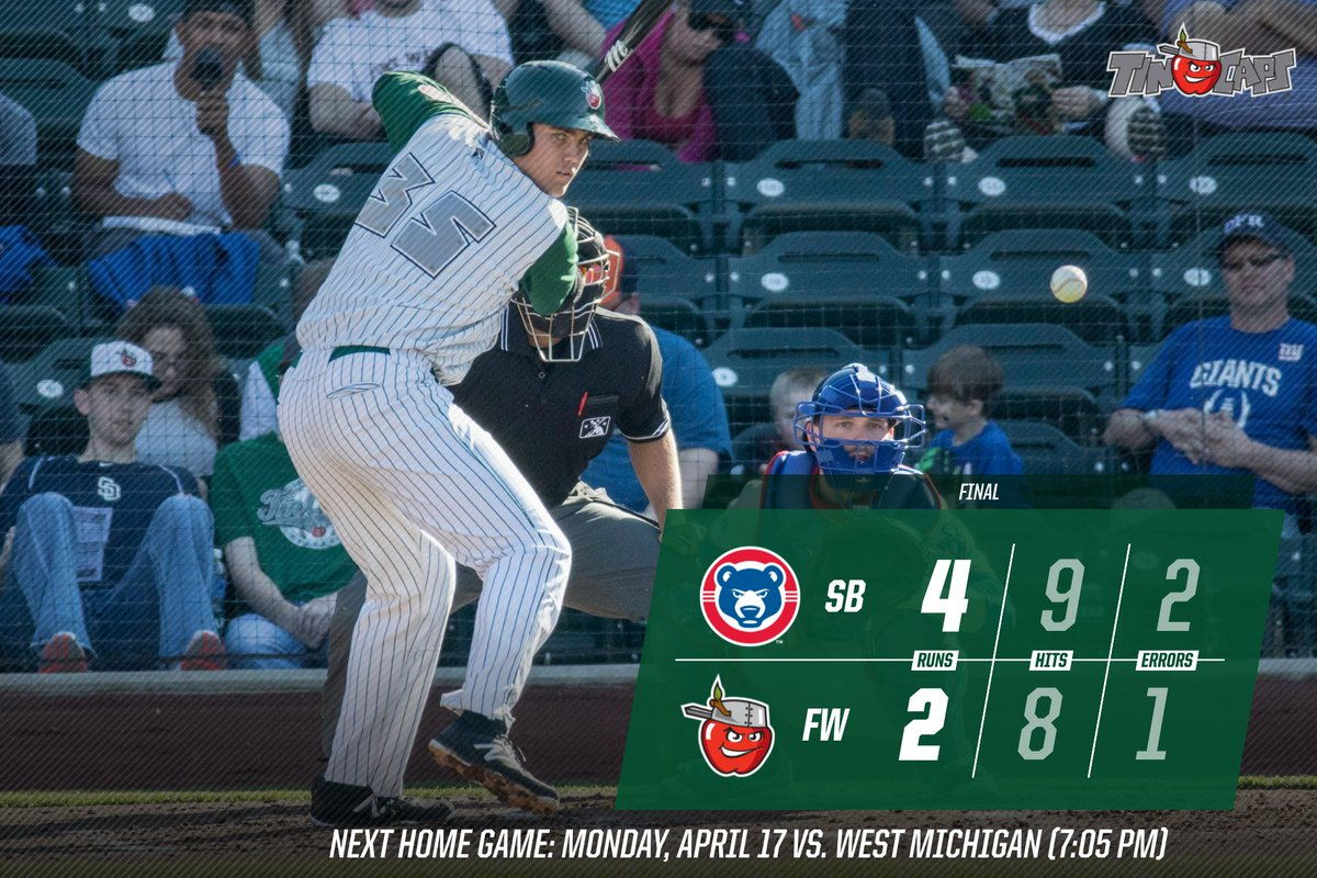 2017/04/12: TinCaps vs South Bend Cubs game recap.