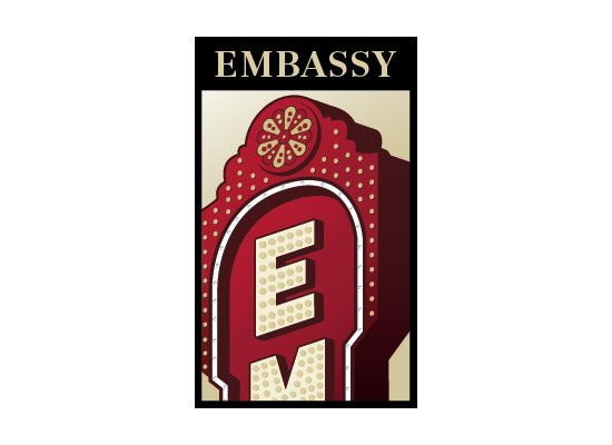 Embassy Theatre side logo