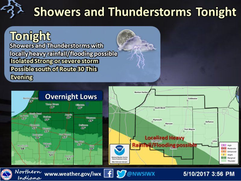 Tonight's NWS Weather Story for May 10, 2017.